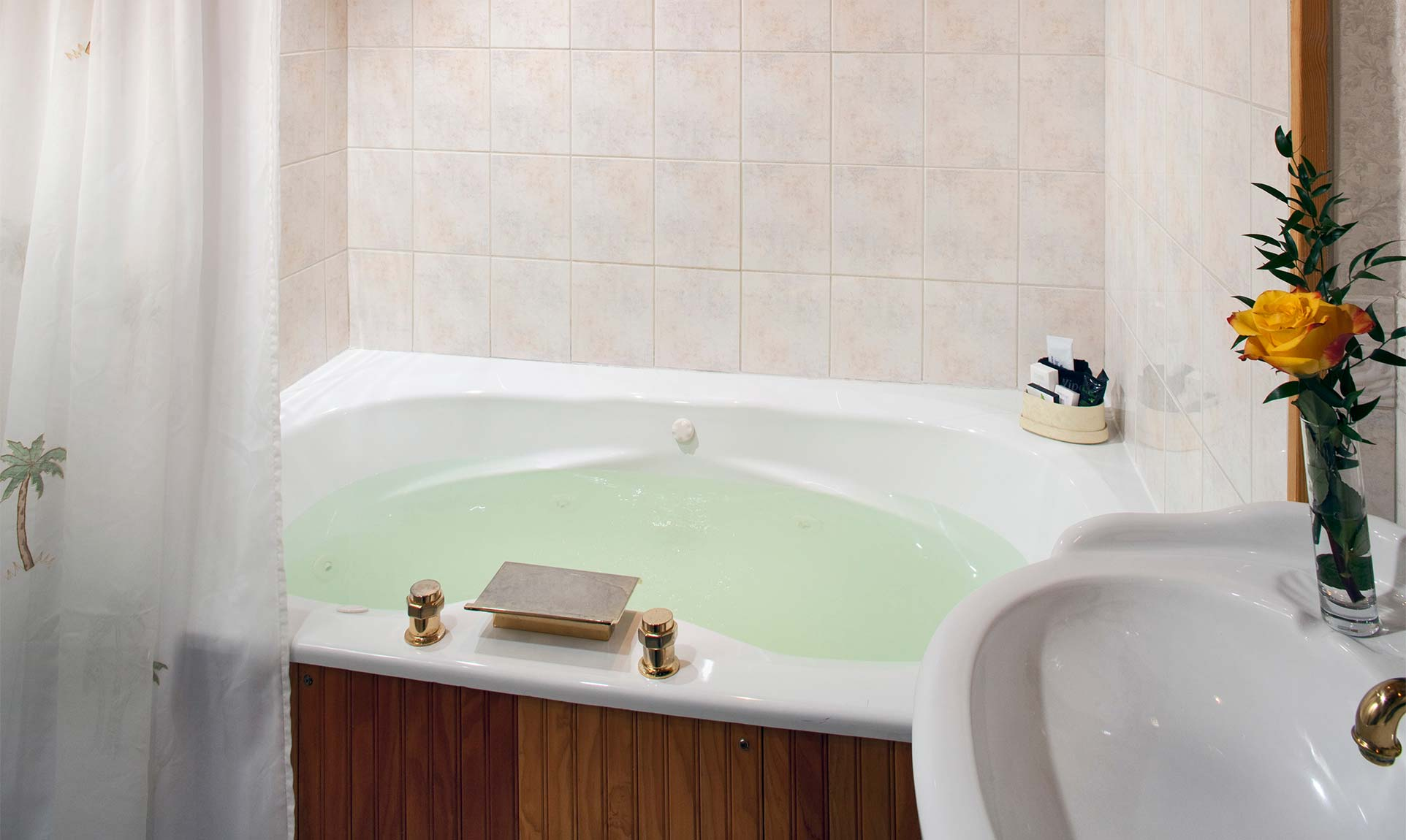 Large two person spa tub