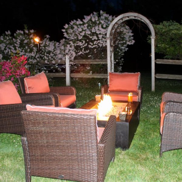 Outdoor firepit and comfortable seating