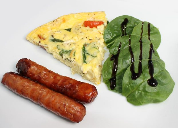 Egg frittata spinach and sausage