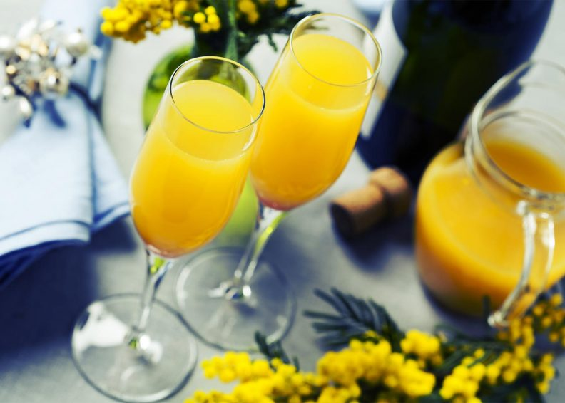 Two glasses of mimosas