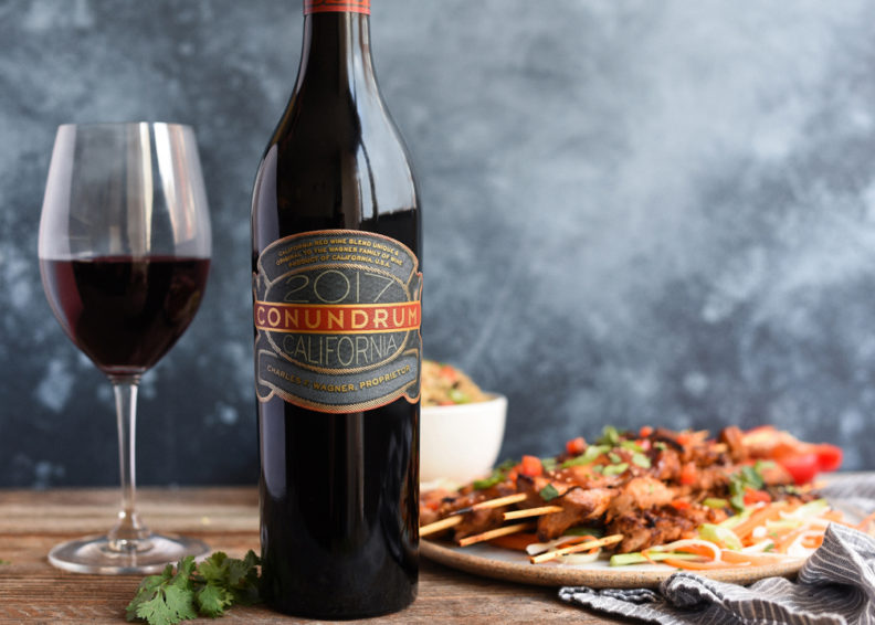 Bottle of Conundrum's Red Blend
