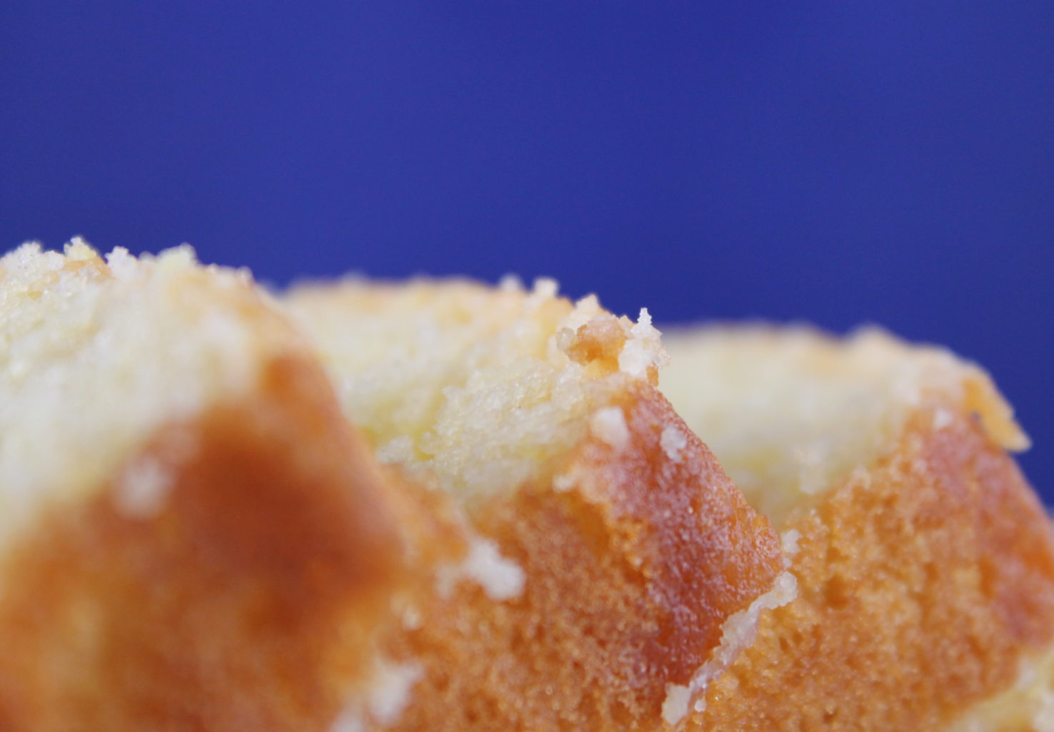 Detail shot of Lemon Loaf freshly baked for check in