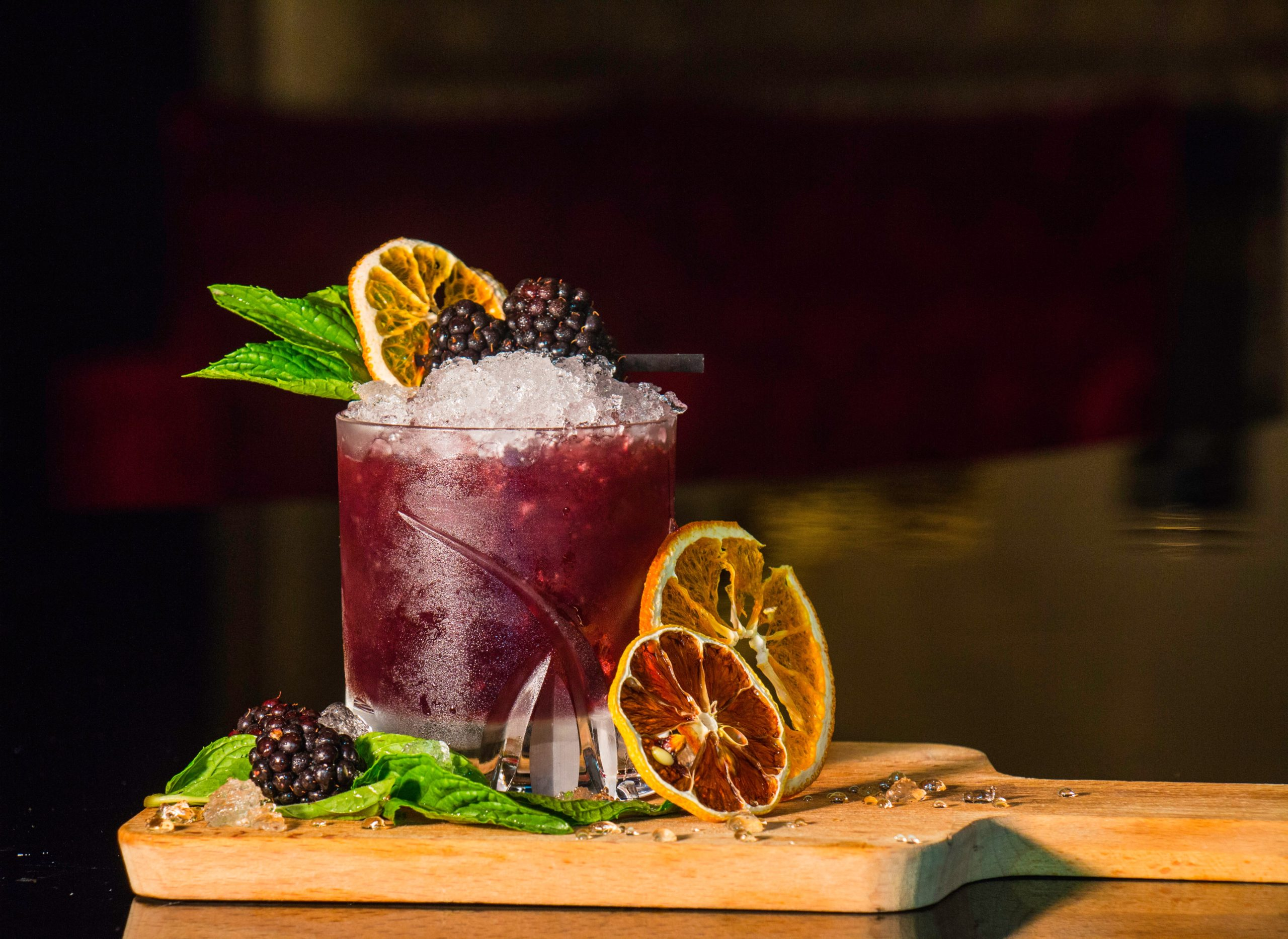 Cocktail with fruit