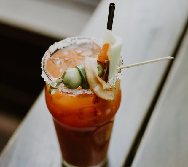 Bloody Mary on table